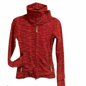 Bench Fleece stripe chunky neck fr zipper jacket